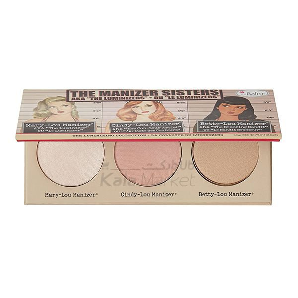 Kala Market-کالا مارکت- the balm the manizer second edit1 600x600 - پالت هایلایتر دبالم (THE BALM The Manizer Sisters)