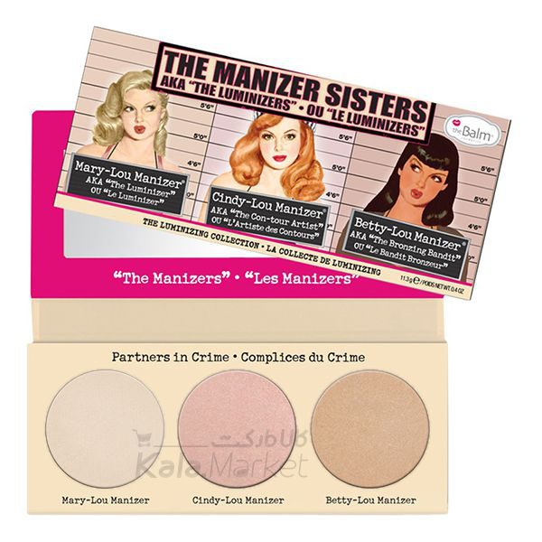 Kala Market-کالا مارکت- the balm the manizer second edit2 600x600 - پالت هایلایتر دبالم (THE BALM The Manizer Sisters)