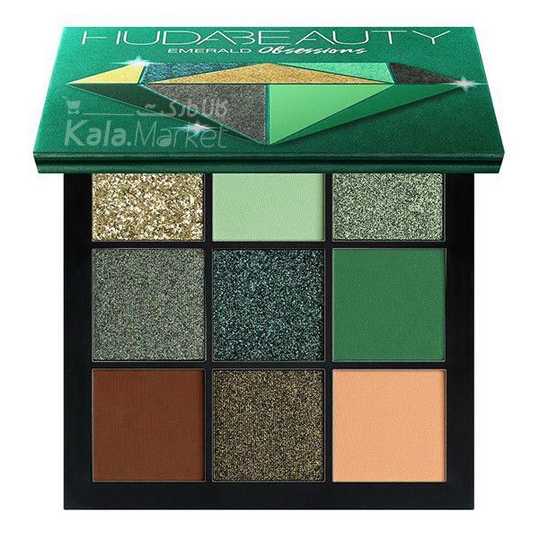 Kala Market-کالا مارکت- huda beauty obsessions emerald1 600x600 - پالت سایه 9 تایی هدی بیوتی امرالد (HUDA BEAUTY Obsessions Palette Emerald)