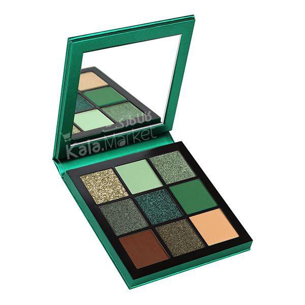 Kala Market-کالا مارکت- huda beauty obsessions emerald2 600x600 - پالت سایه 9 تایی هدی بیوتی امرالد (HUDA BEAUTY Obsessions Palette Emerald)