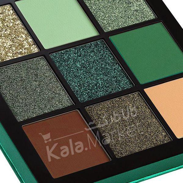 Kala Market-کالا مارکت- huda beauty obsessions emerald3 600x600 - پالت سایه 9 تایی هدی بیوتی امرالد (HUDA BEAUTY Obsessions Palette Emerald)