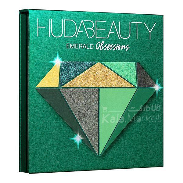 Kala Market-کالا مارکت- huda beauty obsessions emerald4 600x600 - پالت سایه 9 تایی هدی بیوتی امرالد (HUDA BEAUTY Obsessions Palette Emerald)