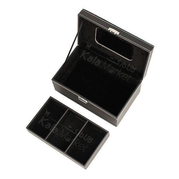 Kala Market-کالا مارکت- mac black cosmetics box6 600x600 - باکس لوازم آرایش 2 طبقه مک (MAC Black Cosmetic Box)
