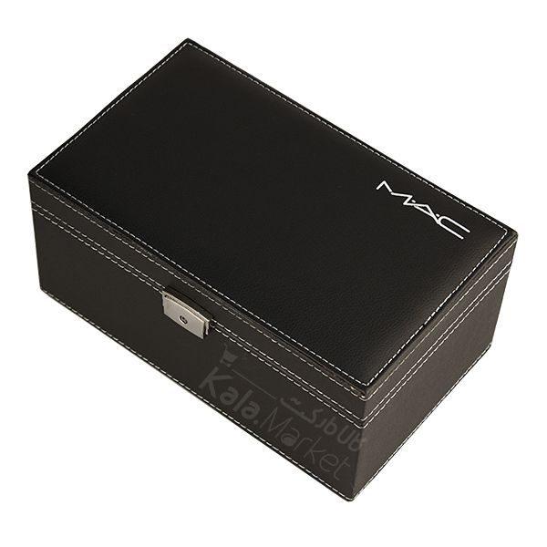 Kala Market-کالا مارکت- mac black cosmetics box8 600x600 - باکس لوازم آرایش 2 طبقه مک (MAC Black Cosmetic Box)