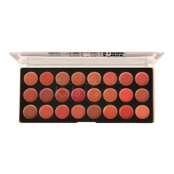 Kala Market-کالا مارکت- zuse high colorful lipgloss palette0 600x600 - پالت رژ لب 24 عددی زئوس (Z'USE 24 Colorful Lipgloss Palette)