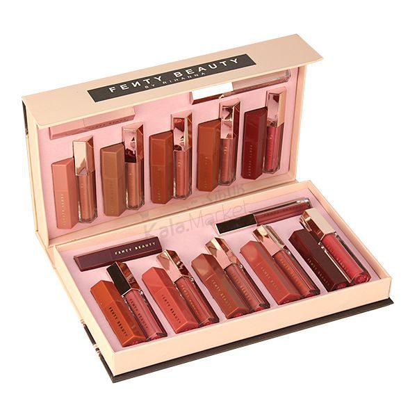 Kala Market-کالا مارکت- fenty beauty 24 pcs gifi box1 600x600 - ست رژ جامد و مایع 24 تایی فنتی بیوتی (FENTY BEAUTY 24 Pcs Gifi Box)